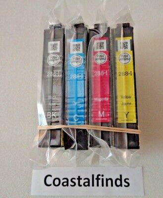 Epson 288 Ink Cartridge CMYK Set of 4 OEM NEW Genuine Sealed 288-i XP 440 446