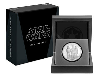 2019 Niue Star Wars Classic Stormtrooper 1 oz Silver Proof $2 Coin OGP SKU55702