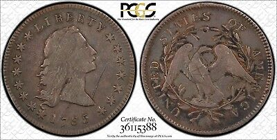 1795 Flowing Hair Dollar Pcgs Fine Detail Graffiti Outstanding Surfaces Looks Vf