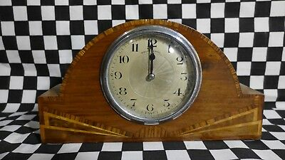 Walker and Hall wooden Art Deco clock