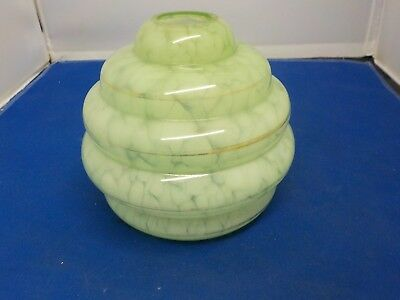 nice Vintage green Glass Lamp  Shade  Art Deco 1940s / 50s collectable ligthing