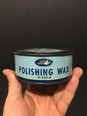 Rare Ford Polishing Wax Not Imperial Quart Oil Tin Can Sign Canada Advertising