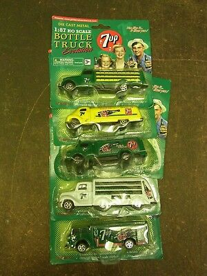 5 Diecast 7Up Delivery Trucks On Blister Pack 2 Loose