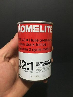 Rare Full Homelite Chain Not Imperial Quart Oil Tin Can Sign Canada Advertising