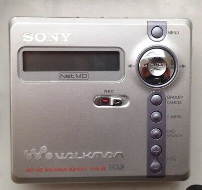 SONY NetMD Walkman MZ-N707 MDLP Type-R portable minidisc player with accessories