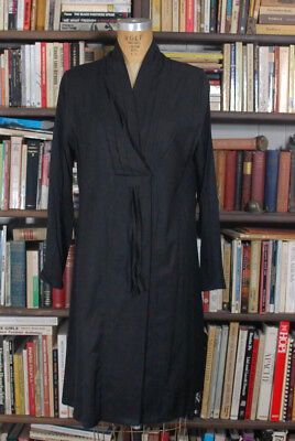Vintage Black DOLCE & GABBANA Minimal Modern Duster Dress Coat Womens Medium