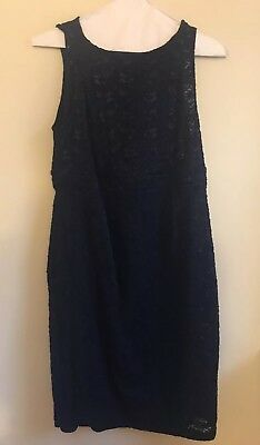 A Pea In The Pod Navy Lace Maternity Dress Size M Holiday Cocktail Party!