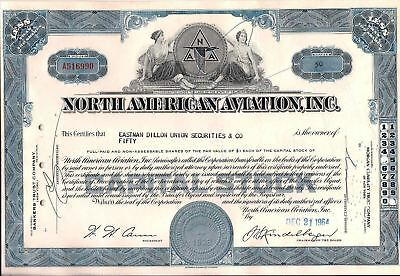 North American Aviation, Inc. stock certificate (Boeing) Less Than 100 shares