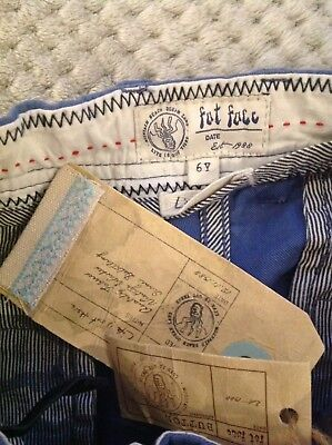 Fat Face Chino Boys Trousers Jeans Age 6 Years Old New With Tag