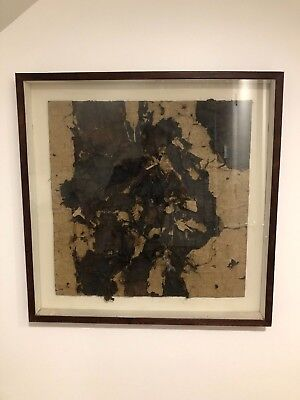 20th Century abstract painting composite collage in style of Robert Rauschenberg