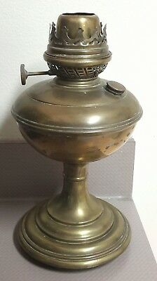 Antique Pittsburgh Lamp & Brass Co. Oil Lamp No. 2 Success Stand Lamp Brass