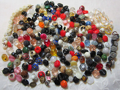 Great Collection Of Diminutive Antique & Vintage Buttons/ Glass Metal +