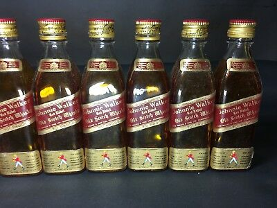 1960 Johnnie Walker Empty Whisky 70%  x12 Dummy  Bottle Miniature  Shop Display