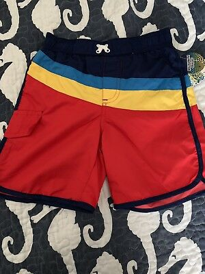 NWT toddler Boys Striped Swimming Board Shorts Swim Trunks Size 3 3t