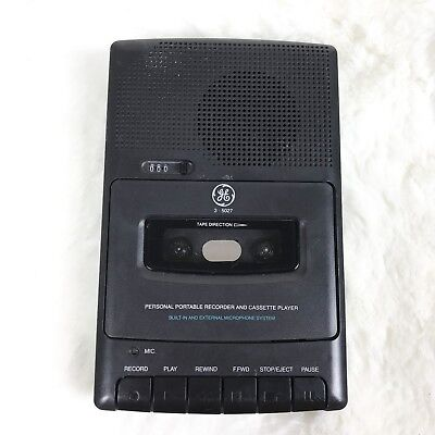 General Electric GE Battery Operated Cassette Recorder Model No. 3-5027A Works