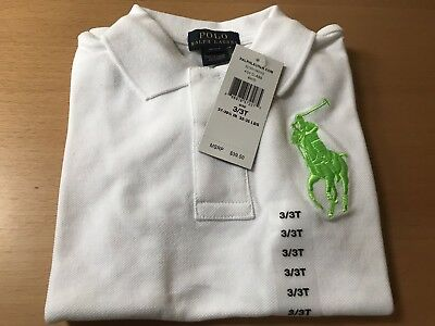 NWT Ralph Lauren Big Pony Short Sleeve Polo T Shirt For Boys 3T 3 Retail $39.50
