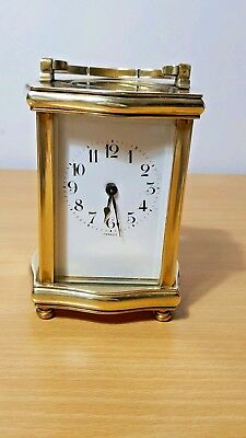 Antique Brass French Carriage Clock Working Order