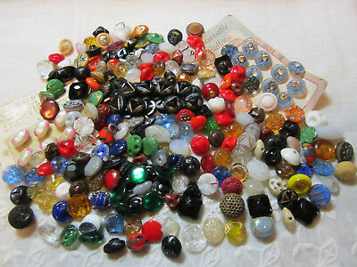 Lot Of 235+ Small Antique & Vintage Buttons/ Glass +