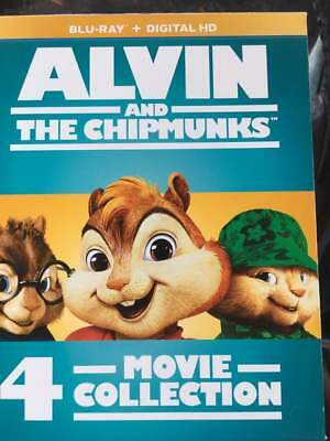 Alvin and the Chipmunks Collection 1-4 Blu-Ray No DVD/Digital/Slip Like New