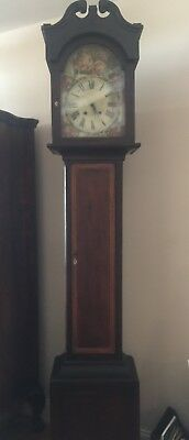 Beautiful Early American Antique Tall Grandfather (Case) Clock - 7' tall