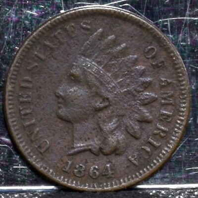 1864 Indian Cent - Bronze - Fine Details (#19676)