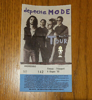 Raro Ticket Biglietto Depeche Mode Devotional Tour 1993