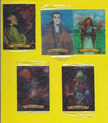 Harry Potter Chocolate Frog cards ...  Lot of 5 Cards