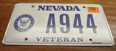 "Nice Cool Nevada Special Order Navy Veteran License Plate ""a 944"" Porsche 944"