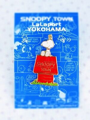 Rare! Snoopy Pin【Snoopy on Doghouse】 from SNOOPY TOWN YOKOHAMA in Japan 1990's