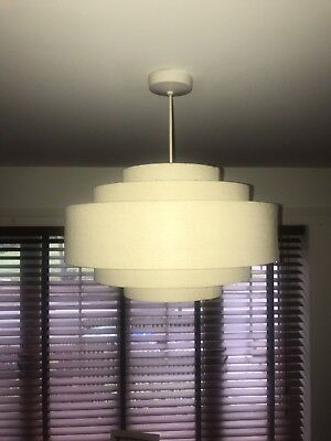 Modern Fabric Cotton Easy Fit Ceiling Drum Light Shades Table Lampshade Pendant.