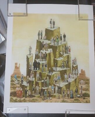 Breaking Bad Upon The Mount Print Scott Campbell Signed Poster cooks mitchell