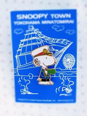 Wow!!! 1990's Snoopy Pin【Captain of the ship】 from SNOOPY TOWN YOKOHAMA in Japan