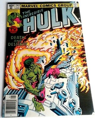 The Incredible Hulk #243 (Jan 1980, Marvel) Death and Destiny  CO-6