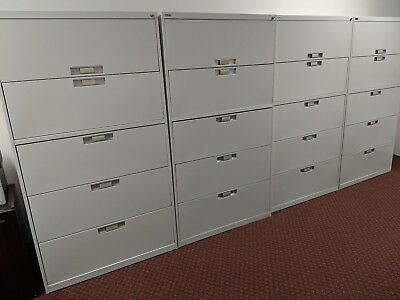 Five-drawer Metal Lateral Filing Cabinets by Artopex