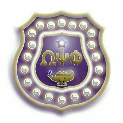 Omega Psi Phi Shield Pin With Twenty Pearls Free Shipping 1400