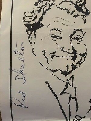 RED SKELTON Autograph Signed Poster from Nugget Casino Show Not Dated 1976-1977?