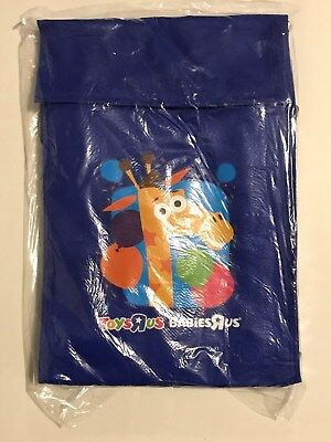Toys R Us Blue Reusable Lunch Bag With Handle Sealed Geoffrey The Giraffe