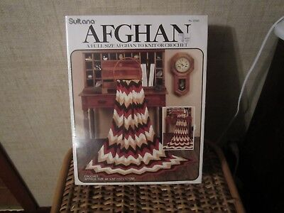 New Sultana Afghan Kit To Crochet Or Knit