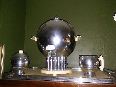 Chase Brass and Copper Original Coffee Set Rare Collectible Excellent Condition