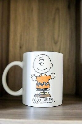 Vintage Charlie Brown Good Grief white Ceramic Mug (Great Condition)