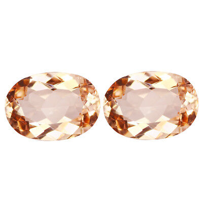 1.83Ct (2Pcs) PairSignificant Oval Cut 8 x 6 mm 100% Natural Pink Morganite
