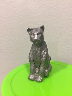 Pewter Figurine Mountain Lion Cat 1996 1 Inch Tall Valentines Day Gift Idea