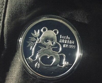 CHINA 1oz SILVER PANDA PROOF 1991 MUNICH WMF WORLD MONEY FAIR EXPO MINT MEDAL