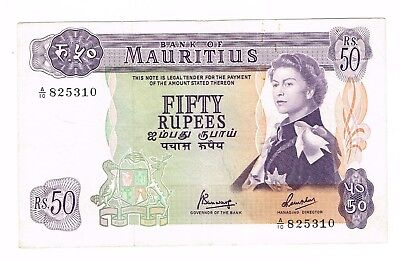 Mauritius Fifty Rupees  bank note