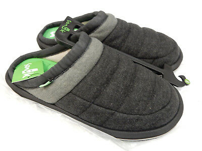 Sanuk Mens Puff N Chill Low Lx Black Grey Size 9