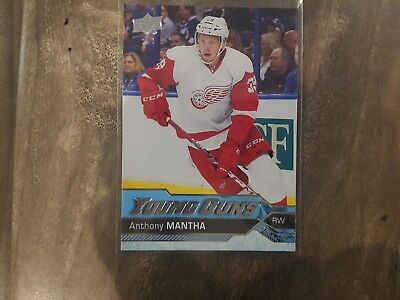 2016-17 Upper Deck Yg #213 Anthony Mantha Young Guns Rookie Card