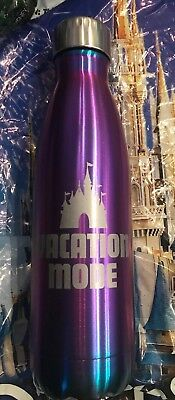 Disney Parks Purple Potion Vacation Mode Metal Water Bottle Castle New In Hand
