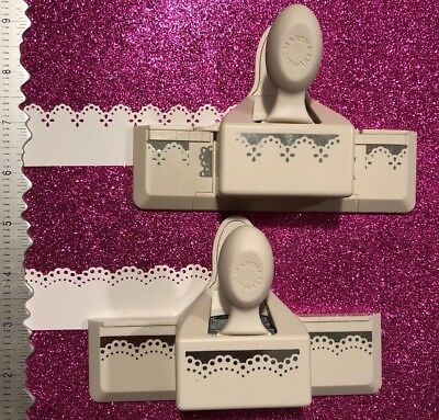 Htf Lot Martha Stewart Ek Craft Paper Punch Continuous Border Doily Lace Eyelet