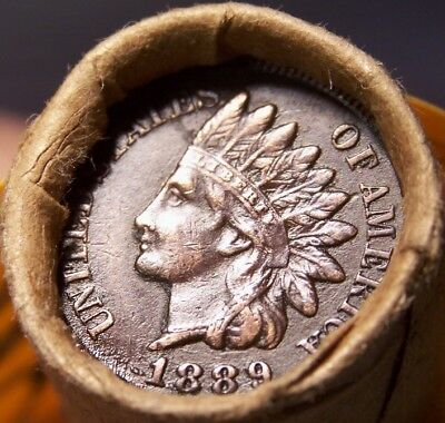 1908 Indian/1889 Indian Head Cent Ends Mixed Antique Roll As In Pictures #7506