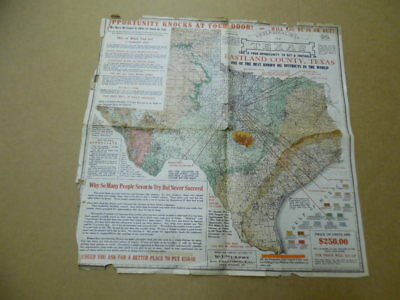 1921 Texas Oil Boom Investment Prospectus Map Ranger Breckenridge Antique ORIG.